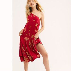 Free People Large Francesca Printed O Ring Dress